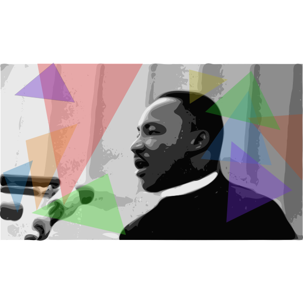 Martin Luther King Jr holding a speech vector illustration