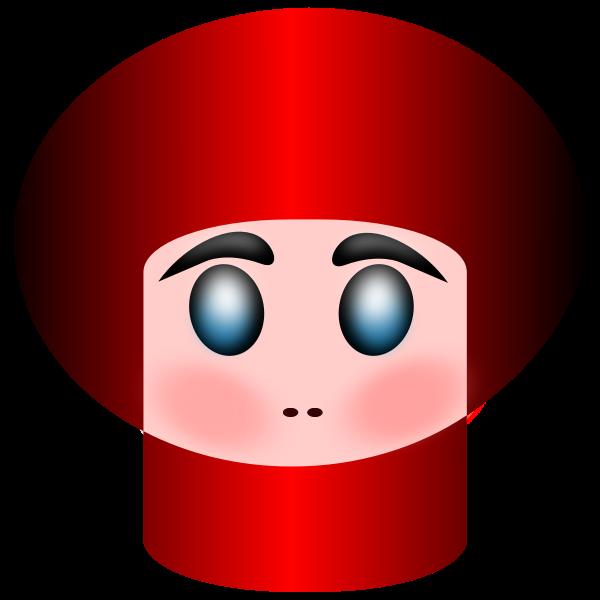 Babushka portrait vector image