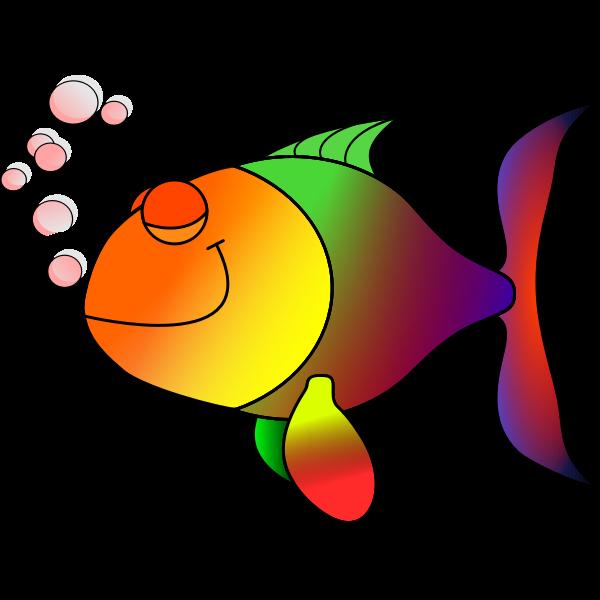 Colorful sleepy fish