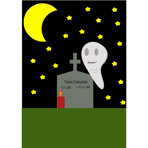 Haunted grave vector image