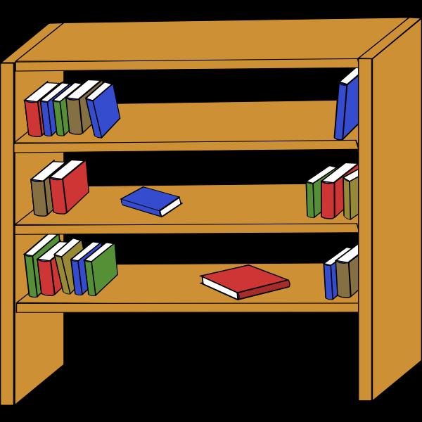 Bookcase vector graphics