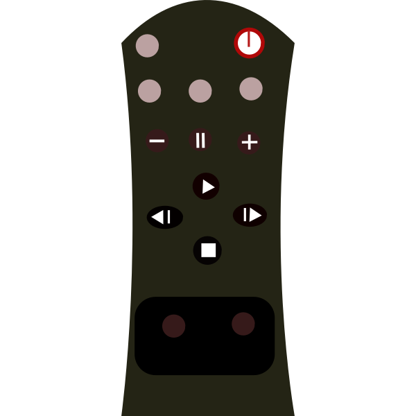 Remote control vector clip art graphics