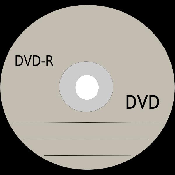 DVD recording disc vector