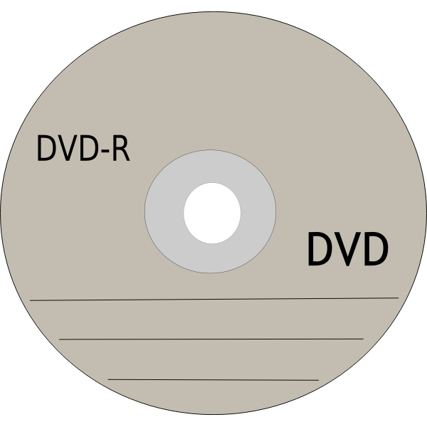 DVD recording disc vector