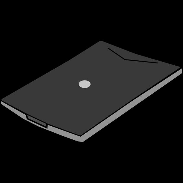 Flatbed scanner vector clip art
