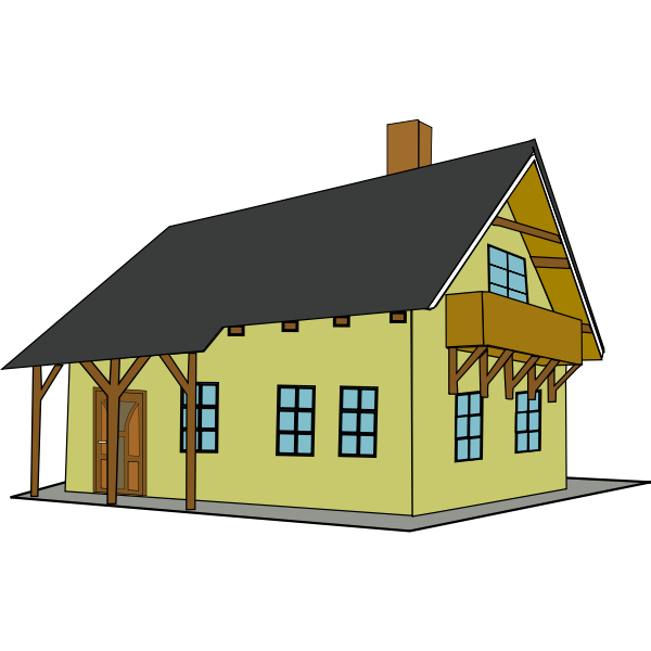 House clip art vector