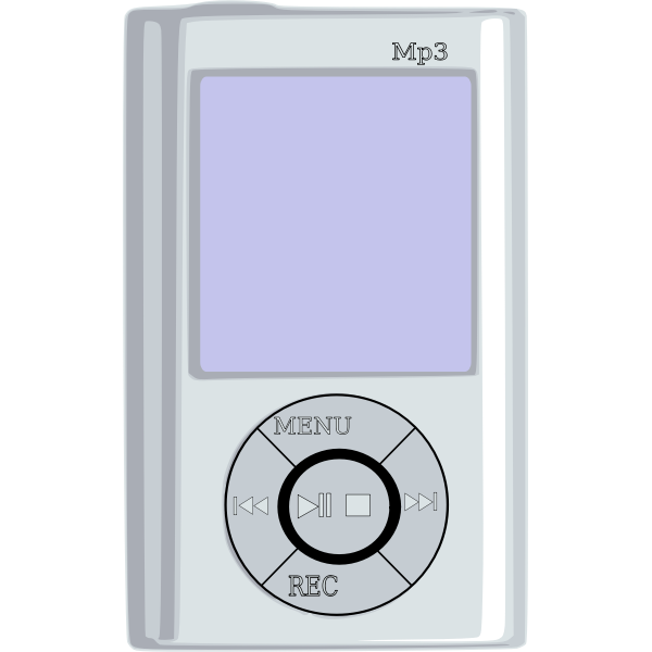 MP3 player vector graphics