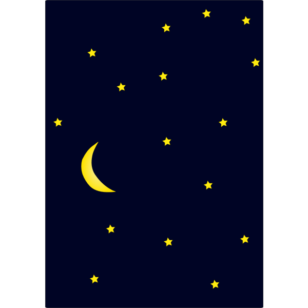 Moon and sky full of stars vector background