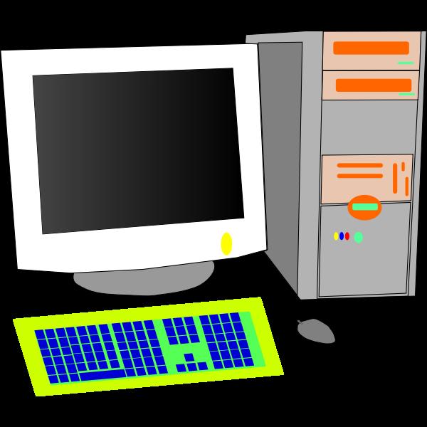 Personal computer vector clip art