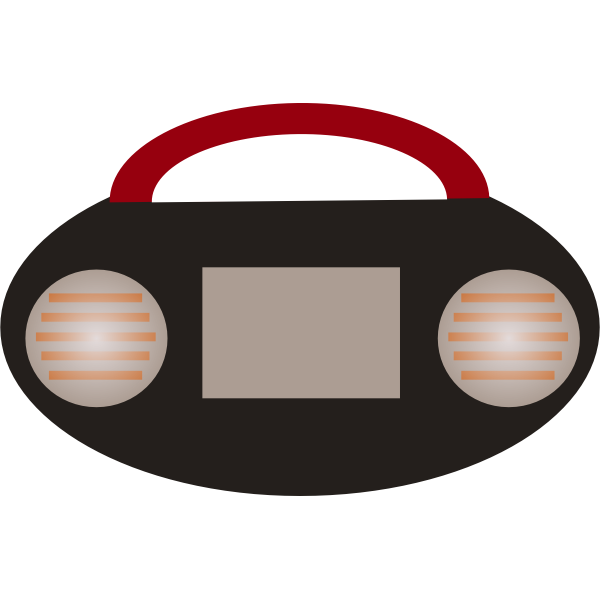Radio cassette player vector image