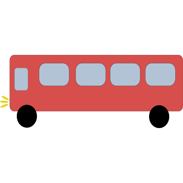 Simple red vector bus