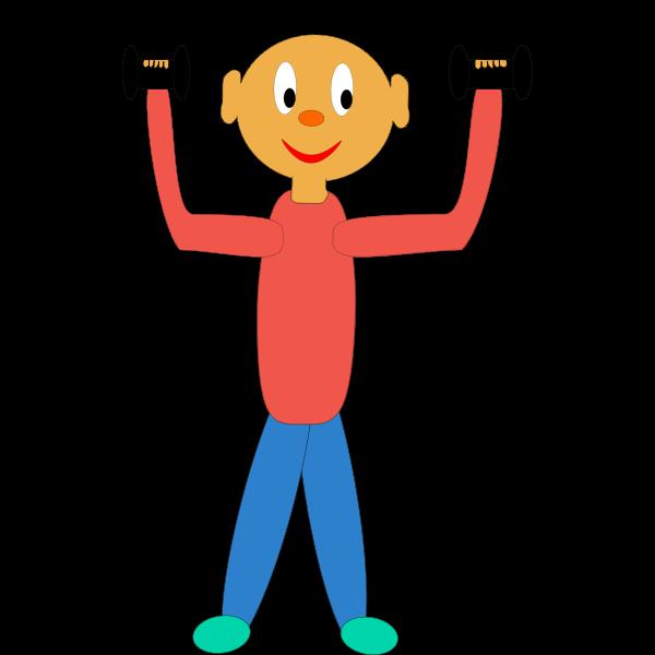 Weightlifting cartoon vector