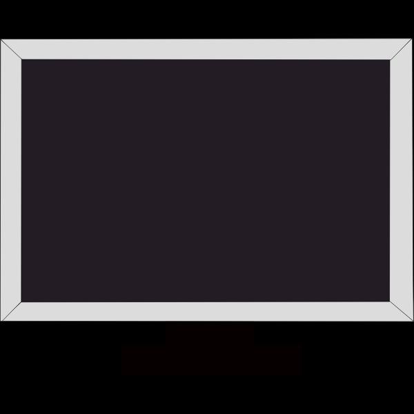 Gray LCD screen vector clip art