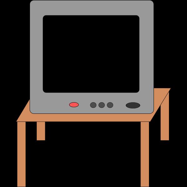 Vector clip art of television receiver