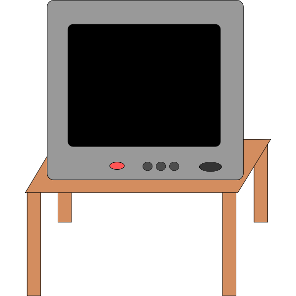 Vector clip art of television receiver
