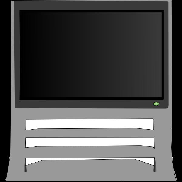 Television set vector clip art