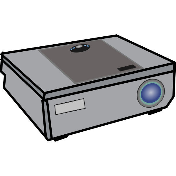 Video projector vector graphics