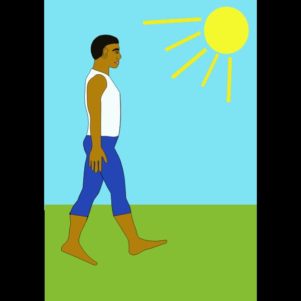 Walking in nature vector