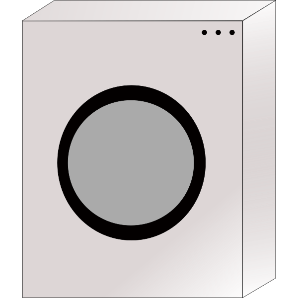 Vector image of a washing machine