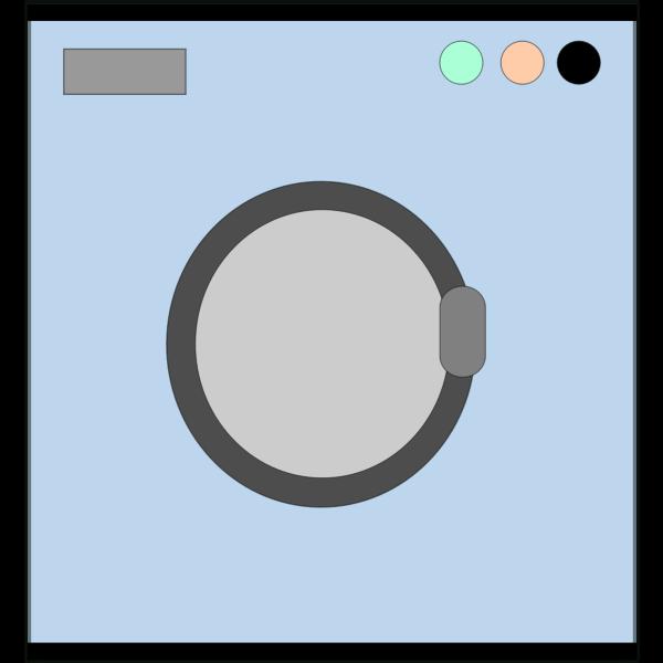 Laundry machine vector icon