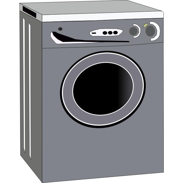 Washing machine vector drawing