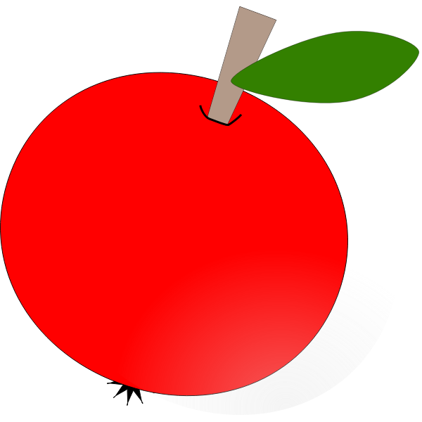 Apple vector drawing