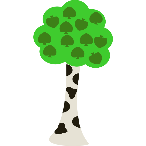 Birch tree vector image