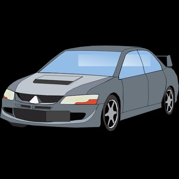 Vector graphics of a car