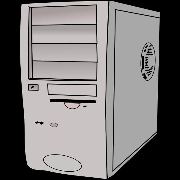 PC case vector clip art