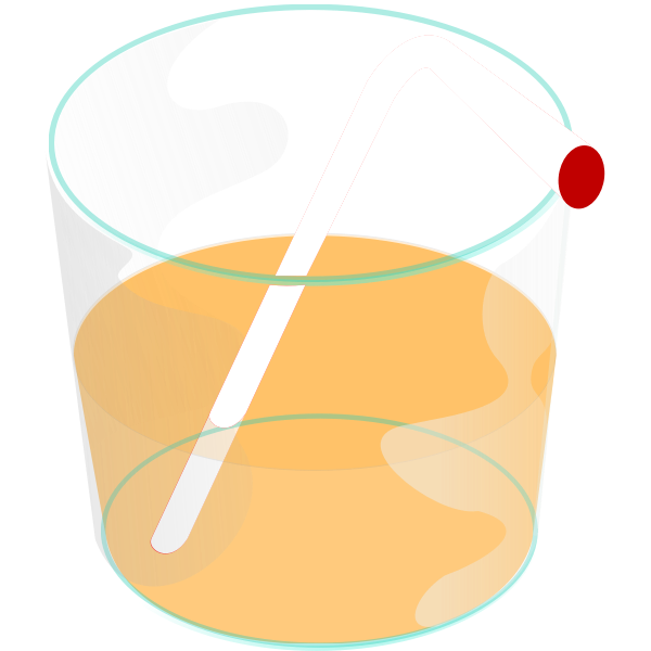 Glass with straw vector graphics
