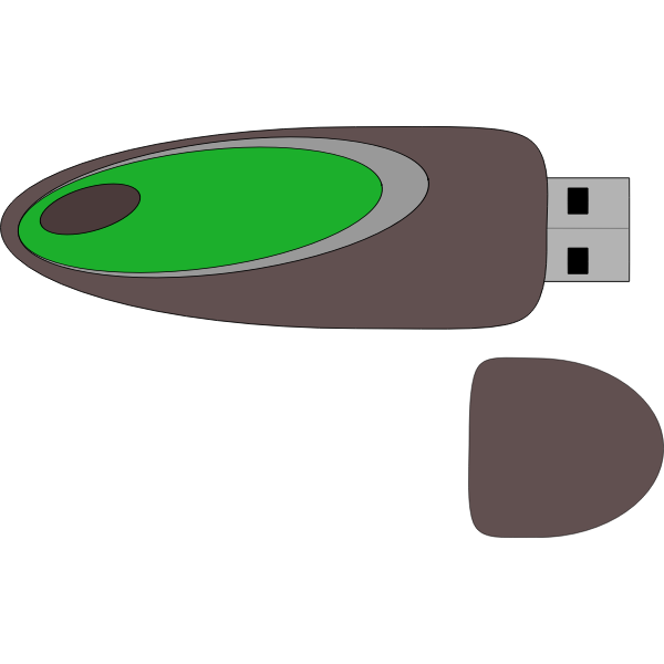 USB device vector image