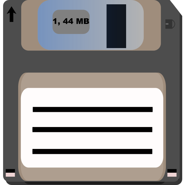 Floppy diskette vector clip art