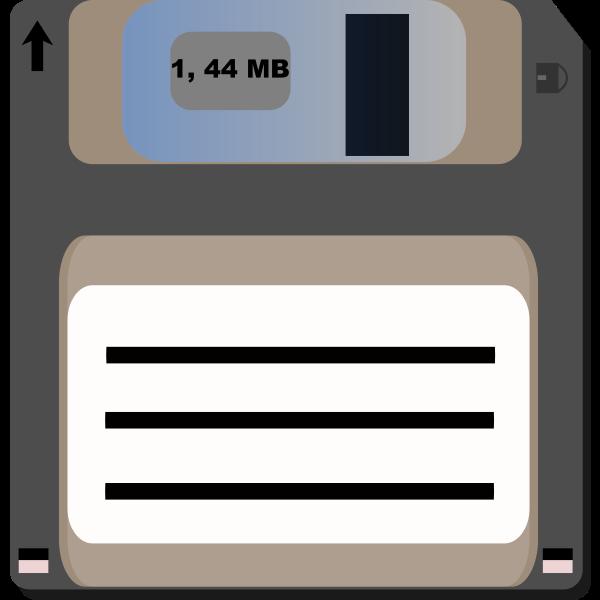 Floppy diskette vector clip art