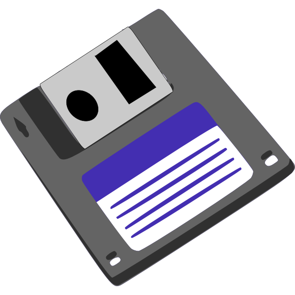 Floppy diskette vector