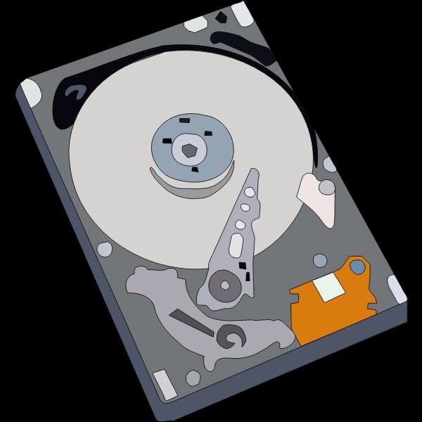 Hard disk vector illustration