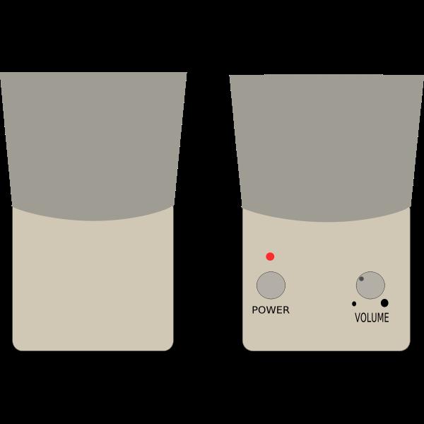 Speakers vector graphics