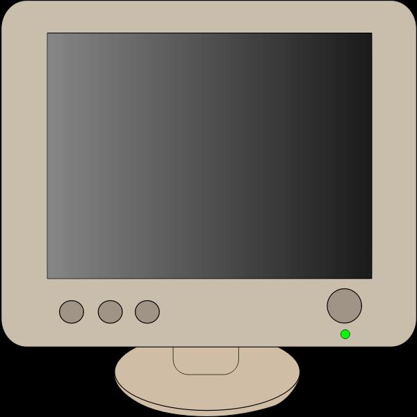 Computer monitor vector clip art