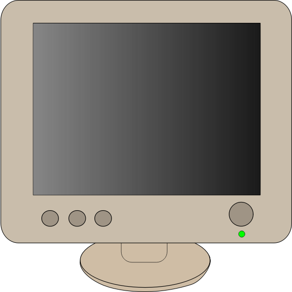 Computer monitor vector clip art