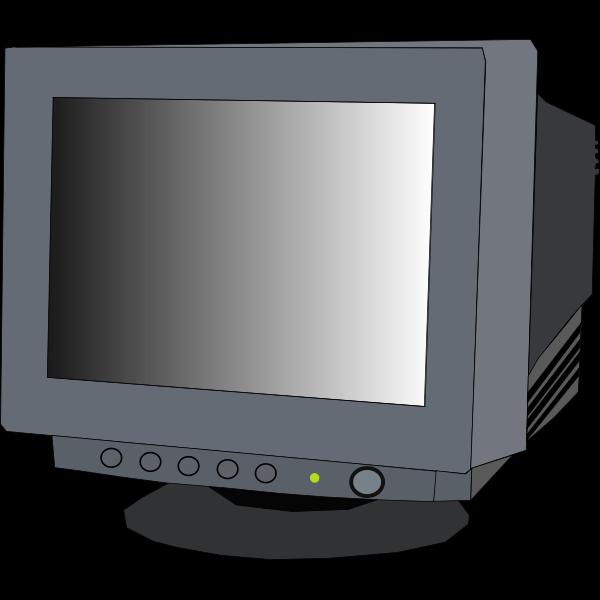 Monitor CRT vector clip art