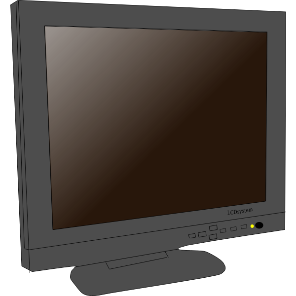 Monitor LCD vector clip art