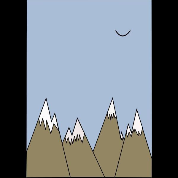 Mountains vector illustration