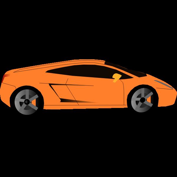 Luxury sports car vector graphics