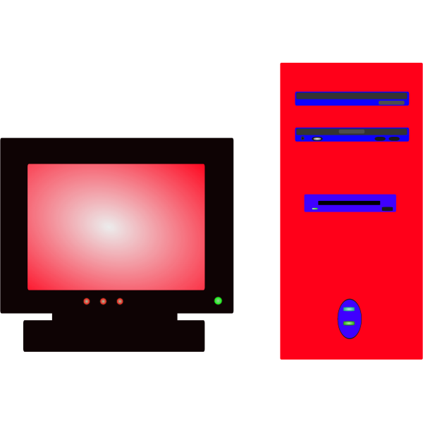 Personal computer vector image