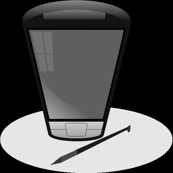 Pocket PC vector clip art