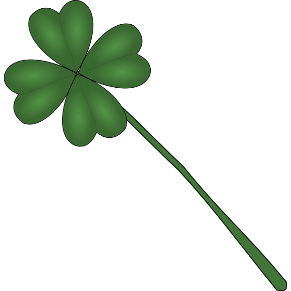 Clover plant vector