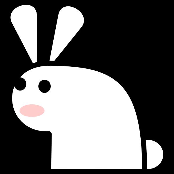 Comic rabbit vector image