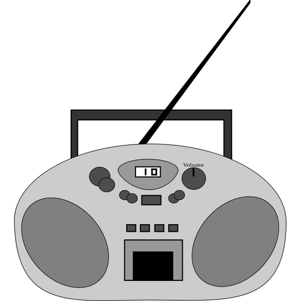 Radio device vector image