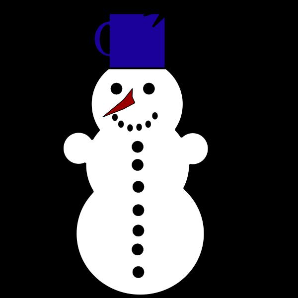 Funny snowman vector graphics
