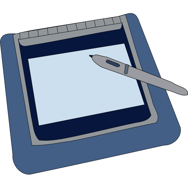 Tablet vector graphics