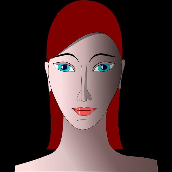 Woman portrait vector graphics